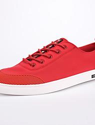 Da uomo-Sneakers-Casual-Comoda-Piatto-Scamosciato-Nero Rosso Grigio