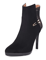Women's Boots Fashion Boots / Pointed Toe Fleece / Customized Materials Party & Evening / Dress / Casual Stiletto