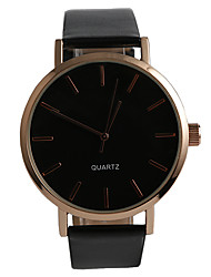 Popular Simple Classic Black Rose Gold Style Men's Watch