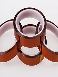 полиимида ленты желтовато-коричневые высокотемпературные чувствительные к давлению клейкие ленты / 20 мм * 33 м