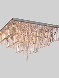 Lámpara Chandelier de Cristal con 16 Bombillas - POUGHKEEPSIE