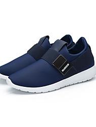 Men's Flats  Comfort / Round Toe / Closed Toe Fabric Casual Flat Heel Buckle Black / Blue / Gray / Khaki