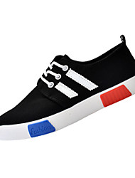 Damen-Sneaker-Lässig-PU-Flacher Absatz-Komfort-Schwarz / Rosa