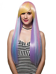 The gradient of long hair, fashion wigs.