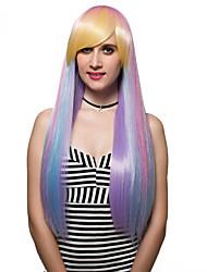 o gradiente de cabelos longos, moda perucas.