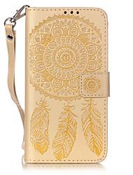 Pour Samsung Galaxy Coque Porte Carte Portefeuille Avec Support Clapet Coque Coque Intégrale Coque Attrapeur de rêves Flexible Cuir PU