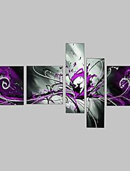 Ручная роспись Абстракция Любая форма,Классика 5 панелей Холст Hang-роспись маслом For Украшение дома
