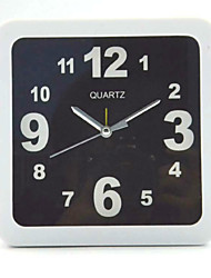 (Color Pattern is Random)Square And Round  And Black And White Simple Alarm Clock Student Desktop Table Clock
