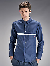 The fall of new men's shirt young Korean students pure fashion men's self-cultivation SHIRT COTTON tide