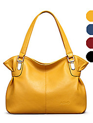 AOVO® Women Cowhide Shoulder Bag Blue / Yellow / Black / Burgundy-931