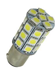 10 pcs branco super BA15d 27-SMD 5050 lâmpadas led barco marine 1142 1178 1130