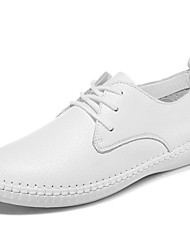 Women's Flats Spring / Summer / Fall / Winter Flats Nappa Leather Athletic / Casual Flat Heel Black / White Sneaker