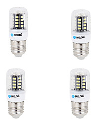 4 pcs e14 / g9 / gu10 / e27 / b22 led corn lights 30 smd 5733 3w 250-300 lm chaud / cool blanc 220-240 v