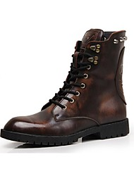 Men's Boots Martens Boots/Motorcycle Boots/ Leather/Combat Boots/Fashion Dress/Rivet/Black/Brown