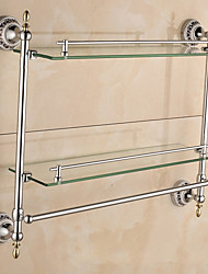 Towel Bar / Bathroom Shelf / Chrome / Wall Mounted /57*14*42cm /Stainless Steel / Zinc Alloy /Contemporary /