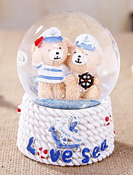 Home Accessories Lovely Gift for Children Bear Light-Emitting Crystal Ball
