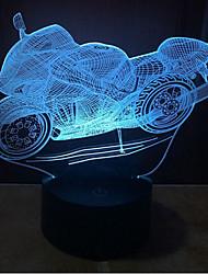 motocicleta toque escurecimento 3D conduziu a luz da noite 7colorful decoração atmosfera lâmpada de luz de Natal iluminação novidade