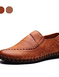 Chaussures Hommes Bureau & Travail / Soirée & Evénement Orange / Kaki Nappa Leather Richelieu