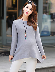 Maternity Regular Padded,Simple Long Sleeve Cotton