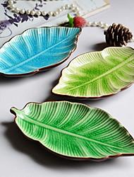 forma piatto di foglia di ceramica Jingdezhen