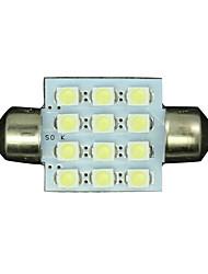 50pcs White 36mm 12-3528 SMD Festoon Dome Map Interior LED Light Lamp DE3175 3022