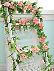 """1 Филиал Полиэстер Пластик Розы Цветы на стену Искусственные Цветы 250 (98.4"""")"""