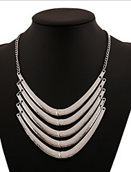 Necklace Statement Necklaces / Layered Necklaces Jewelry Daily / Casual Bohemia Style / Personality Alloy Silver 1pc Gift
