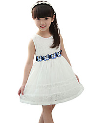 Girl's Casual/Daily SolidRayon Summer White