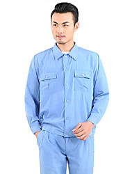 Long-Sleeved Work Clothes Washed Cloth Shop Labor Insurance Overalls (Sell Baby Blue Suit, XL)
