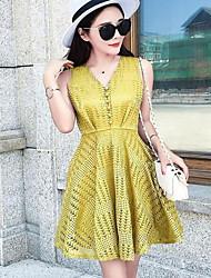 Women's Casual/Daily Simple / Cute A Line / Swing Dress