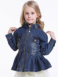 Girl's Cotton Spring/Autumn Fashion Waisting Denim Jacket