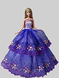 Party & Evening Dresses For Barbie Doll Purple Lace Dresses