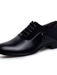 Для мужчин Туфли на шнуровке Удобная обувь Формальная обувь Полиуретан Весна Осень Повседневные Для прогулокУдобная обувь Формальная