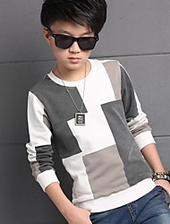 Boy's Casual/Daily Patchwork Tee / Hoodie & Sweatshirt / Suit & Blazer,Cotton / Rayon Winter / Spring / Fall Gray
