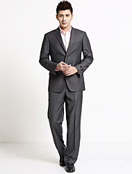 Men's Solid Formal Set,Cotton Long Sleeve Black / Blue / Gray
