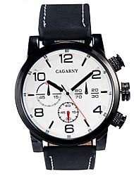 Masculino Relógio Militar / Relógio Elegante / Relógio de Moda / Relógio de Pulso Quartz / Couro Banda Vintage Preta / Marrom marca