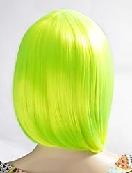 la mode féminine neitsi cosplay jaune court synthétique perruques de cheveux 160g / pc