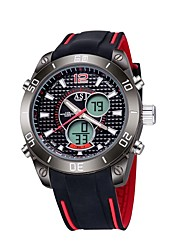 Men's Sport Watch Digital / Japanese QuartzLCD / Compass / Calendar / Water Resistant/Water Proof / Dual Time Zones / Luminous /