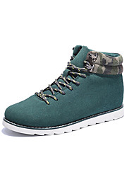 Men's Fashion Boots Casual/Outdoor Microfiber Suede Leather Walking Medium Cut Boots