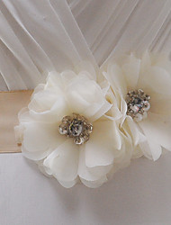 Satin Wedding / Party/ Evening / Dailywear Sash - Beading / Floral / Rhinestone Women's Sashes