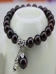 Black Gem Stone Strand Bracelet Christmas Gifts