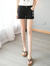 Damen Hose - Einfach Kurze Hose / Jeans Polyester Unelastisch