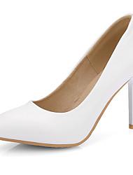 Damen-High Heels-Büro / Kleid / Lässig-Kunstleder-Stöckelabsatz-Absätze / Pumps / Spitzschuh-Schwarz / Rosa / Weiß