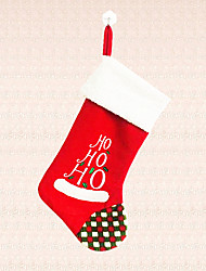 1pc HOHO Words Cartoon Christmas Stocking Xmas Tree Decoration Candy Bag Home Party Holiday Supplies