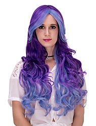 Blue purple gradient long hair wig.WIG LOLITA, Halloween Wig, color wig, fashion wig, natural wig, COSPLAY wig.