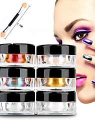 12pcs 2g/Box Nail Glitter Powder Shinning Mirror Eye Shadow Makeup Powder Dust Nail Art DIY Chrome Pigment Glitter