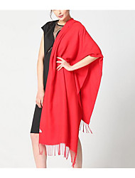 Damen Wollmischung Schal einfarbig