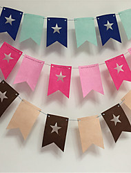 Party Dress Party Supplies Lahua Flags Festival Kindergarten Children Room Decoration Stars Felt
