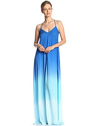 Women's Casual/Daily Sexy Sheath Dress, Halter Maxi Sleeveless Summer