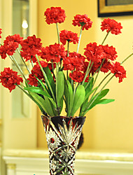 Hi-Q 1Pc Decorative  Real Touch Carnation Wedding Home Table Decoration Artificial Flowers